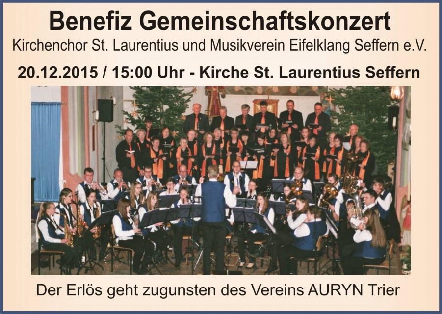 Kirchenchor St. Laurentius - Musikverein Eifelchor Seffern - Benefizkonzert